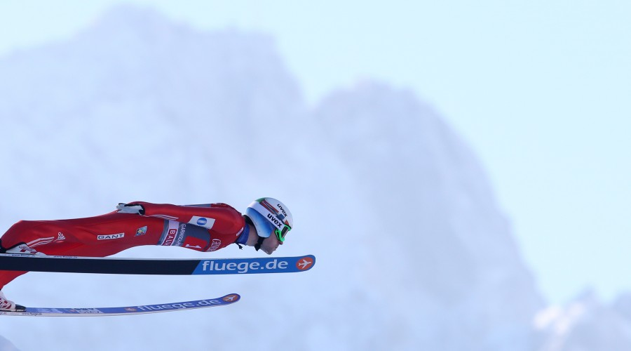 GARMISCH-PARTENKIRCHEN,GERMANY,01.JAN.15 - NORDIC SKIING, SKI JUMPING - FIS World Cup, Four Hills Tournament, large hill, men. Image shows Anders Jacobsen (NOR) . Photo: GEPA pictures/ Andreas Pranter