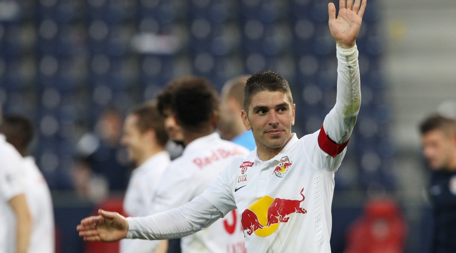 SALZBURG,AUSTRIA,09.MAY.15 - SOCCER -  tipico Bundesliga, Red Bull Salzburg vs FC Admira Wacker Moedling. Image shows Jonatan Soriano (RBS). Photo: GEPA pictures/ Mathias Mandl