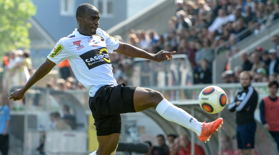 ALTACH,AUSTRIA,16.MAY.15 - SOCCER - tipico Bundesliga, SCR Altach vs Red Bull Salzburg. Image shows Louis Clement Ngwat Mahop (Altach). Photo: GEPA pictures/ Oliver Lerch