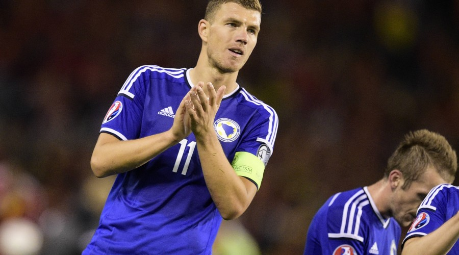 - BRUSSELS, BELGIUM: Bosnian captain Edin Dzeko pictured after a Euro 2016 qualification games between Belgian national soccer team Red Devils and Bosnia and Herzegovina, Thursday 03 September 2015, in Brussels King Baudouin stadium (Stade Roi Baudouin - Koning Boudewijnsatdion). Tuesday YORICKxJANSENS PUBLICATIONxINxGERxSUIxAUTxONLY x04693145x
