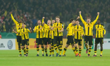 Dortmund, Germany 26.10.2016, DFB-Pokal 2. Runde, BV Borussia Dortmund - 1.FC Union Berlin, die mannschaft vom bvb jubelt ( DeFodi001
