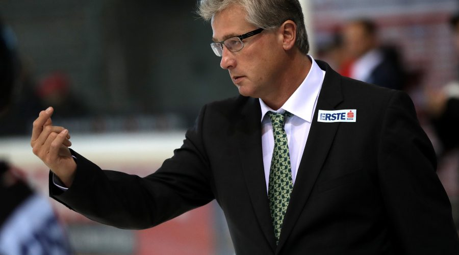 VIENNA,AUSTRIA,24.AUG.16 - ICE HOCKEY - OEEHV international match, Austria vs Slovakia, test match. Image shows assistant coach Roger Bader (AUT). Photo: GEPA pictures/ Walter Luger