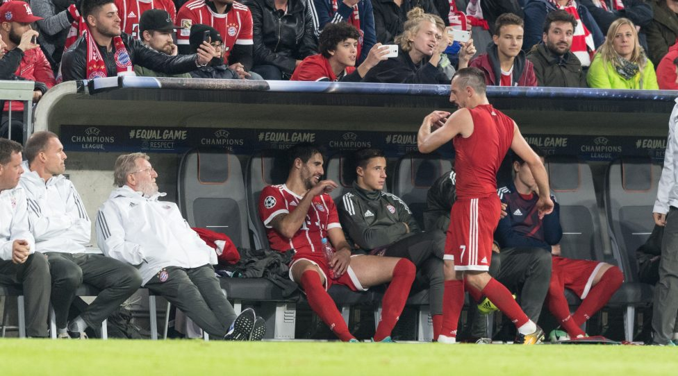 MUNICH,GERMANY,12.SEP.17 - SOCCER - UEFA Champions League, group stage, FC Bayern Muenchen vs RSC Anderlecht. Image shows Franck Ribery (Bayern) after Substitution. Photo: GEPA pictures/ Markus Fischer