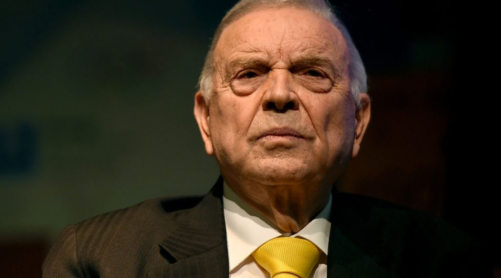 RIO DE JANEIRO, BRAZIL - FEBRUARY 12:  Jose Maria Marin, president of the Brazilian football confederation attends a press conference to announce the proposed host cities for football matches for the 2016 Rio Olympics on February 12, 2015 in Rio de Janeiro, Brazil.  (Photo by Buda Mendes/Getty Images)