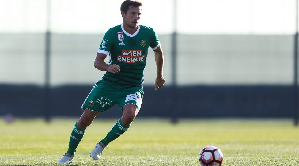 BENIDORM,SPAIN,18.JAN.18 - SOCCER - tipico Bundesliga, China League One, SK Rapid Wien vs Beijing Renhe FC, training camp, test match. Image shows Thomas Schrammel (Rapid). Keywords: Wien Energie. Photo: GEPA pictures/ Philipp Brem