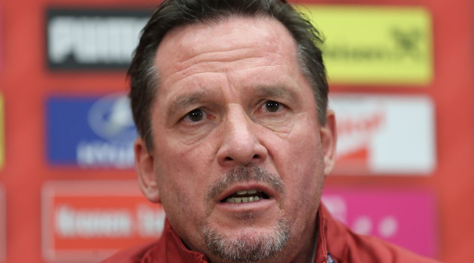 VIENNA,AUSTRIA,19.NOV.18 - SOCCER - UEFA Nations League, OEFB international match, Northern Ireland vs Austria, press conference. Image shows head coach Werner Gregoritsch (AUT). Photo: GEPA pictures/ Christian Ort