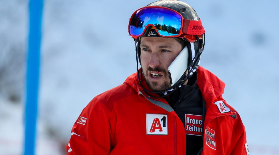 ZAGREB,CROATIA,06.JAN.19 - ALPINE SKIING - FIS World Cup, slalom, men. Image shows Marcel Hirscher (AUT). Keywords: Milka. Photo: GEPA pictures/ Matic Klansek