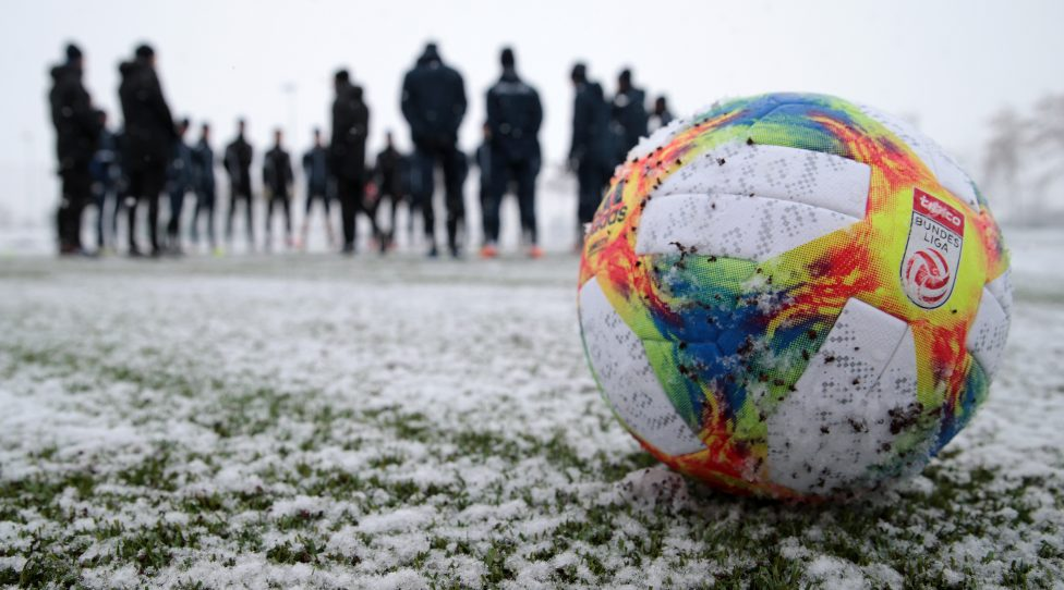 SANKT POELTEN,AUSTRIA,10.JAN.19 - SOCCER - tipico Bundesliga, SKN Sankt Poelten, training start. Image shows a feature with a ball. Photo: GEPA pictures/ Walter Luger