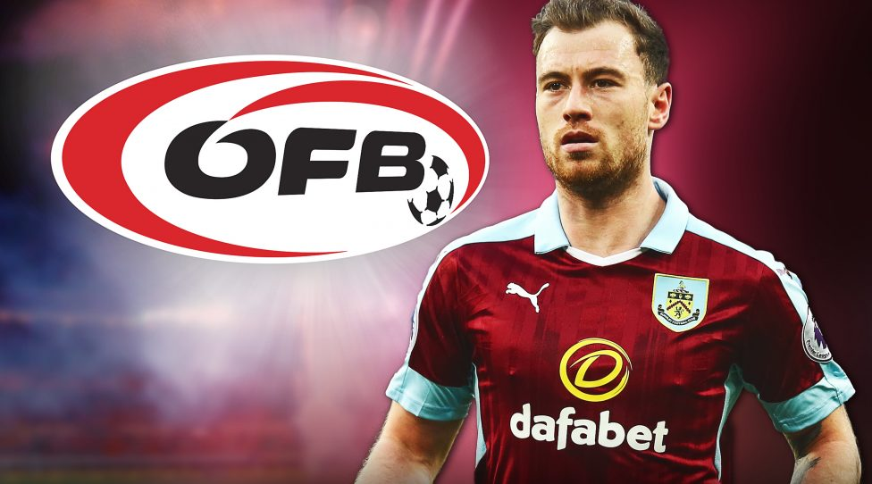 GRAZ,AUSTRIA,22.MAY.18 - SOCCER - OEFB, Oesterreichischer Fussball-Bund, montage on Ashley Barnes (Burnley) eventually becoming a national player of the OEFB. Photo: GEPA pictures/ Walter Luger, GEPA pictures/ AMA sports/ Robbie Jay Barratt - ATTENTION - COPYRIGHT FOR AUSTRIAN CLIENTS ONLY; Montage: Lisa Payr