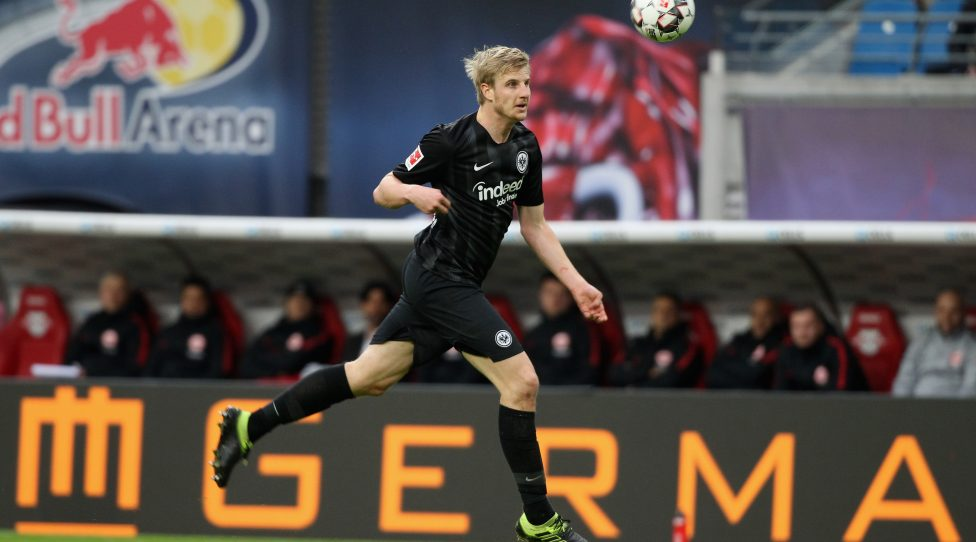 LEIPZIG, SAXONY - FEBRUARY 09:  Martin Hinteregger of Frankfurt during the Bundesliga match between RB Leipzig and Eintracht Frankfurt at Red Bull Arena on February 09, 2019 in Leipzig, Germany.  (Photo by Karina Hessland/Bongarts/Getty Images)