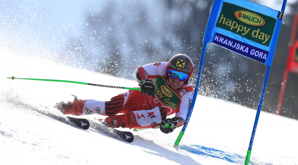 KRANJSKA GORA,SLOVENIA,09.MAR.19 - ALPINE SKIING - FIS World Cup, giant slalom, men. Image shows Marcel Hirscher (AUT). Photo: GEPA pictures/ GEPA pictures/ Mario Buehner