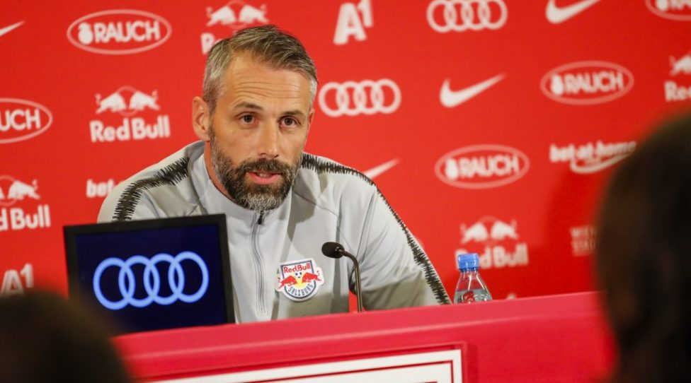 SALZBURG,AUSTRIA,10.APR.19 - SOCCER - tipico Bundesliga, Red Bull Salzburg, press conference. Image shows head coach Marco Rose (RBS). Photo: GEPA pictures/ Jasmin Walter