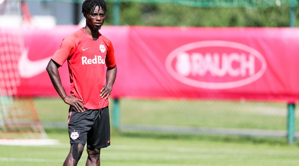 BRAMBERG,AUSTRIA,30.JUN.19 - SOCCER - tipico Bundesliga, Red Bull Salzburg, training camp. Image shows Gideon Mensah (RBS). Photo: GEPA pictures/ Patrick Steiner