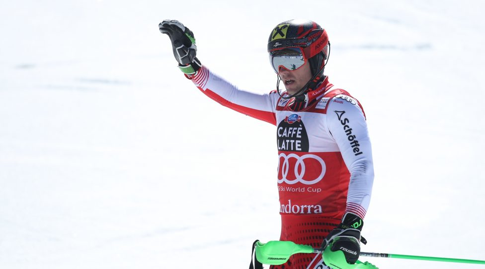 SOLDEU,ANDORRA,17.MAR.19 - ALPINE SKIING - FIS World Cup Final, slalom, men. Image shows Marcel Hirscher (AUT). Photo: GEPA pictures/ Christian Walgram