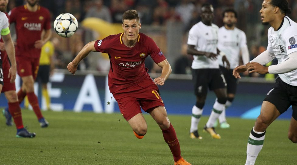 ROME, ITALY - MAY 2: Patrik Schick of AS Roma during the UEFA Champions League Semi Final second leg match between AS Roma and Liverpool FC at Stadio Olimpico on May 2, 2018 in Rome, Italy. (Photo by Jean Catuffe/Getty Images)
