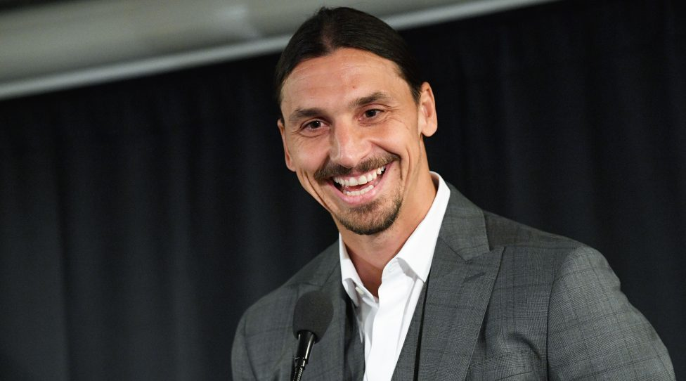 Sweden's biggest football star, Los Angeles Galaxy's forward Zlatan Ibrahimovic,  attends a press conference ahead of the unveiling of a 2,7 m bronze statue of him on October 8, 2019 near the stadium where he made his professional debut in his hometown of Malmo in southern Sweden. (Photo by Johan NILSSON / TT News Agency / AFP) / Sweden OUT (Photo by JOHAN NILSSON/TT News Agency/AFP via Getty Images)