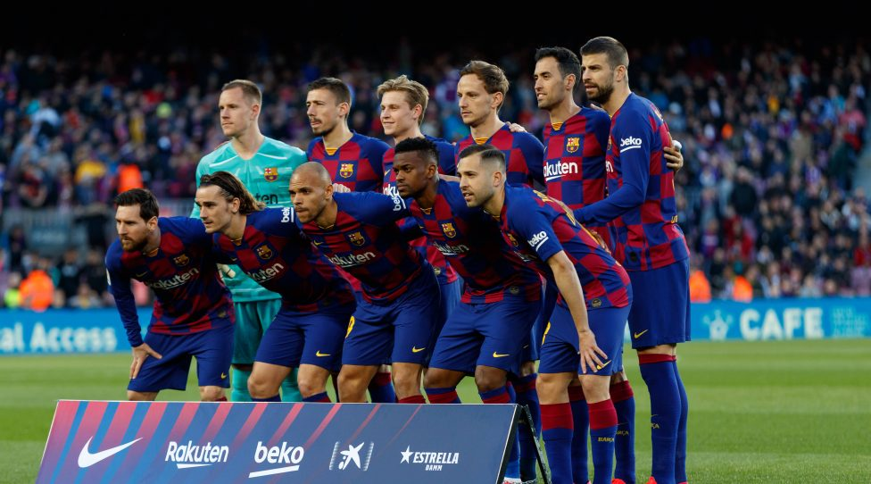 BARCELONA, SPAIN - MARCH 07:.Players of FC Barcelona, Barca during the Liga match between FC Barcelona and Real Sociedad at Camp Nou on March 07, 2020 in Barcelona, Spain.  DAX/ESPA-Images Barcelona USA - ZUMAcs12 20200307zafcs12055 Copyright: xESPAxPhotoxAgencyx