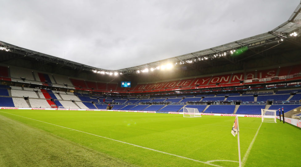 LYON,FRANCE,09.DEC.19 - SOCCER - UEFA Champions League, group stage, Olympique Lyon vs RasenBallsport Leipzig, preview. Image shows the Groupama Stadium. Photo: GEPA pictures/ Roger Petzsche