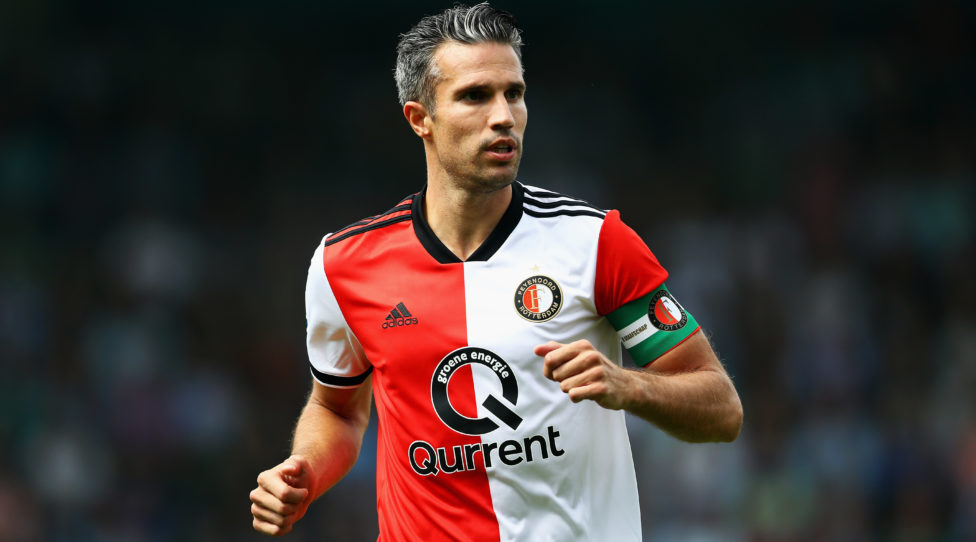 DOETINCHEM, NETHERLANDS - AUGUST 12:  Captain, Robin van Persie of Feyenoord in action during the Eredivisie match between De Graafschap and Feyenoord at Stadion De Vijverberg on August 12, 2018 in Doetinchem, Netherlands.  (Photo by Dean Mouhtaropoulos/Getty Images)