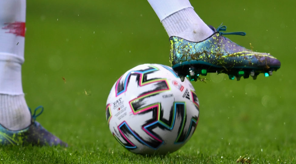 RIED,AUSTRIA,26.SEP.19 - SOCCER - tipico Bundesliga, SV Ried vs FC Red Bull Salzburg. Image shows a feature of a soccer ball. Photo: GEPA pictures/ Christian Moser