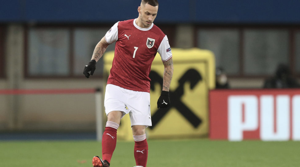 VIENNA,AUSTRIA,15.NOV.20 - SOCCER - UEFA Nations League, OEFB international match, Austria vs Northern Ireland. Image shows Marko Arnautovic (AUT). Photo: GEPA pictures/ Christian Ort