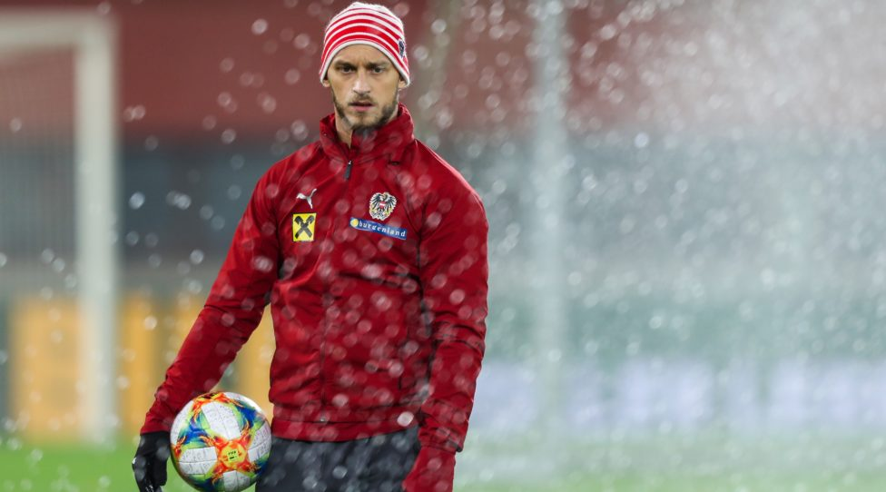 VIENNA,AUSTRIA,15.NOV.19 - SOCCER - UEFA European Championship 2020, European Qualifiers, OEFB international match, Austria vs North Macedonia, preview, training team AUT. Image shows Marko Arnautovic (AUT). Photo: GEPA pictures/ Philipp Brem