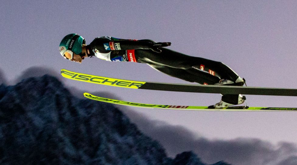 PLANICA,SLOVENIA,13.DEC.20 - NORDIC SKIING, SKI JUMPING, SKI FLYING - FIS Ski Flying World Championship, team competition. Image shows Michael Hayboeck (AUT). Photo: GEPA pictures/ Matic Klansek