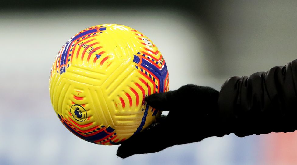 NEWCASTLE UPON TYNE, ENGLAND - DECEMBER 30: A detailed view of the official Premier League match ball is seen prior to the Premier League match between Newcastle United and Liverpool at St. James' Park on December 30, 2020 in Newcastle upon Tyne, England. The match will be played without fans, behind closed doors as a Covid-19 precaution. (Photo by Scott Heppell - Pool/Getty Images)