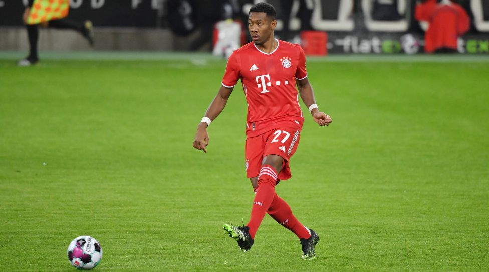 1. BUNDESLIGA GLADBACH - FC BAYERN MUENCHEN David Alaba Bayern Muenchen 08.01.2021, Fussball GER, Saison 2020 2021, 1. Bundesliga, 15. Spieltag, Borussia Mönchengladbach - FC Bayern München, Foto: Maik Hölter/TEAM2sportphoto/Pool ***DFL regulations prohibit any use of photographs as image sequences and/or quasi-video.*** EDITORIAL USE ONLY Moenchengladbach Nordrhein Westfalen Deutschland *** 1 BUNDESLIGA GLADBACH FC BAYERN MUENCHEN David Alaba Bayern Muenchen 08 01 2021, Football GER, Season 2020 2021, 1 Bundesliga, Matchday 15, Borussia Mönchengladbach FC Bayern Munich, Photo Maik Hölter TEAM2sportphoto Pool DFL regulations prohibit any use of photographs as image sequences and or quasi video EDITORIAL USE ONLY Moenchengladbach Nordrhein Westfalen Germany Poolfoto Maik Hölter/TEAM2sportphoto ,EDITORIAL USE ONLY